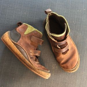 Merrell Prague Bourbon leather and wool boots
